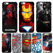 Marvel Hero Captain America Schild Deadpool Superman Fall Capinhas Für Apple iPhone 8 7 6 6 S Plus 5 S SE Dünne Harte Abdeckungen Batman