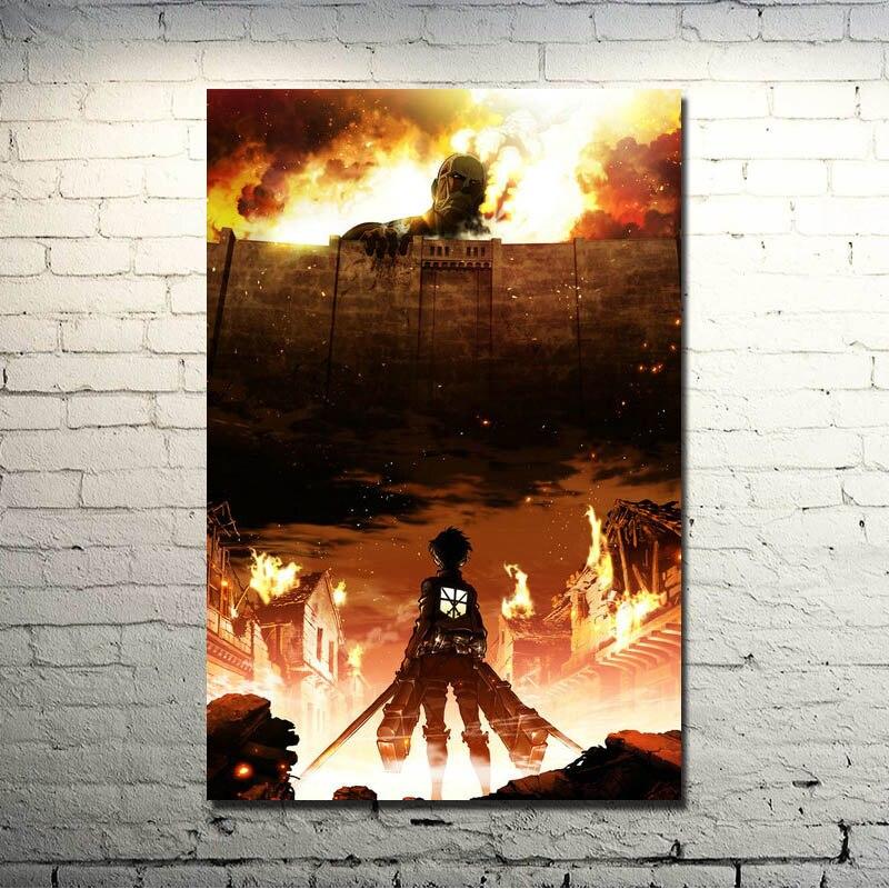 Angriff Auf Titan 1 2 Mikasa Ackerman Anime Art Silk stoff Plakat-druck 13x20 24x36 zoll Bilder Für Room Decor 004