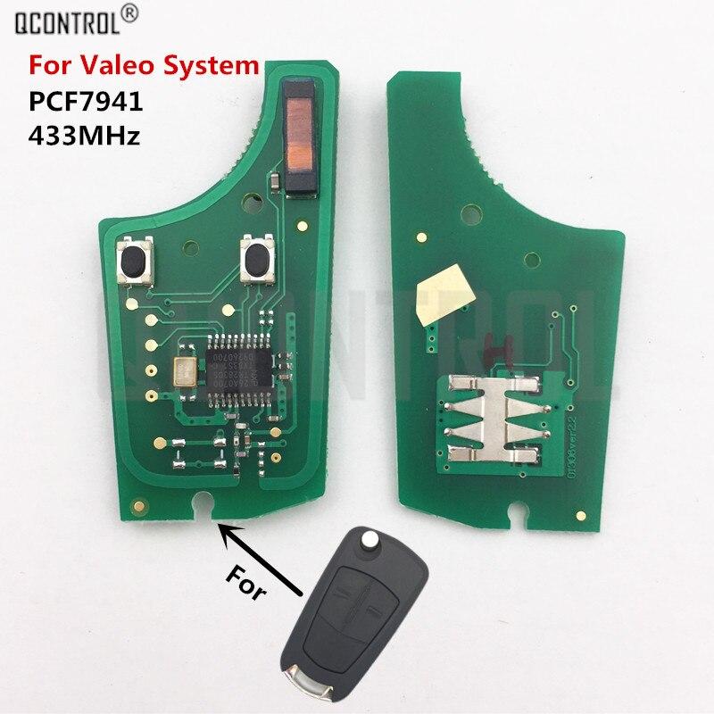 QCONTROL Car Control Remote Key Electronic Circuit Board forOpel/Vauxhall Astra H 2004 - 2009, Zafira B 2005 - 2013