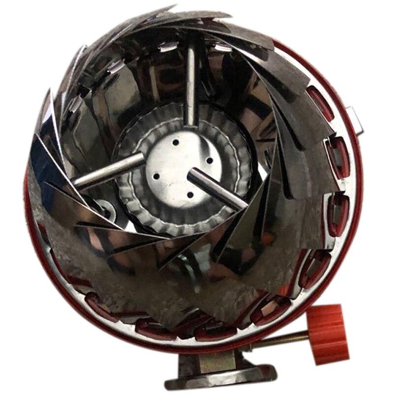 Estufa portátil al aire libre a prueba de viento Lotus horno de Gas estufa de Camping pequeño Yuan horno