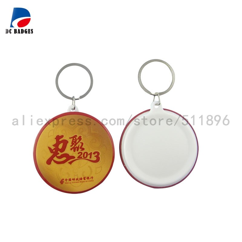 Venta directa de fábrica 300 juegos de 2-1/4 pulgadas (58mm) botón llavero material piezas de botón en blanco, fabricación de máquina de botón de estaño