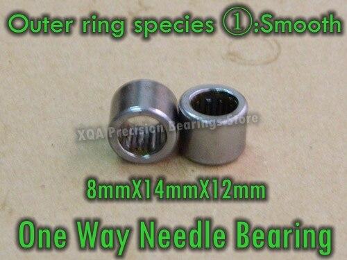 10 PÇS/LOTE One Way Needle Bearing rolamento HF081412 Para EasyMop Spin (anel Externo espécie Octagon Suave Hexagonal Serrilhadas)