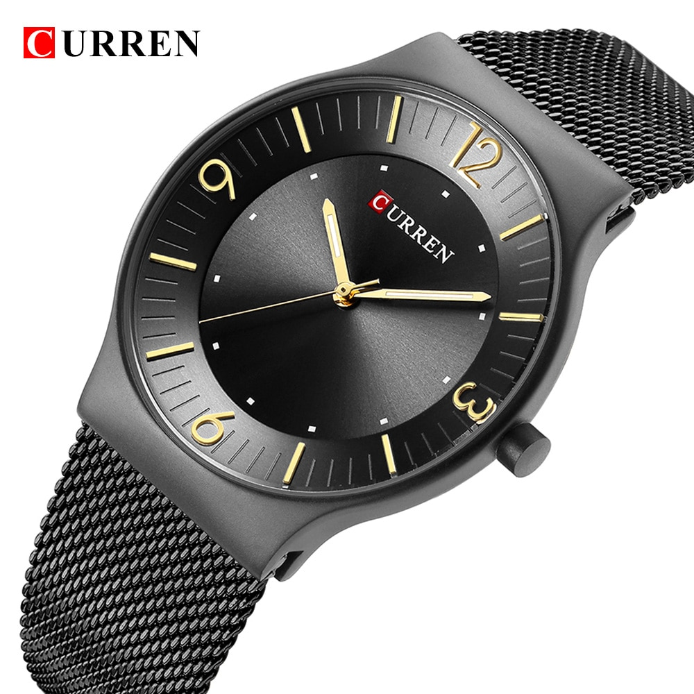 Relojes CURREN 8304, relojes de cuarzo de lujo de la mejor marca para hombres, Correa totalmente de acero clásica para Reloj De Pulsera De Negocios, reloj Masculino