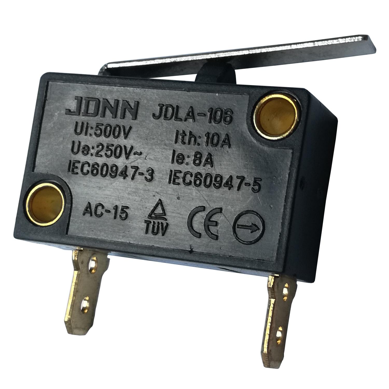 2 قطعة JDNN JDLA-106 250 V 8A مستقيم طويل ليفر منحنى طويل الذراع الكهربائية مايكرو مفاتيح Microswitch للمعدات الميكانيكية