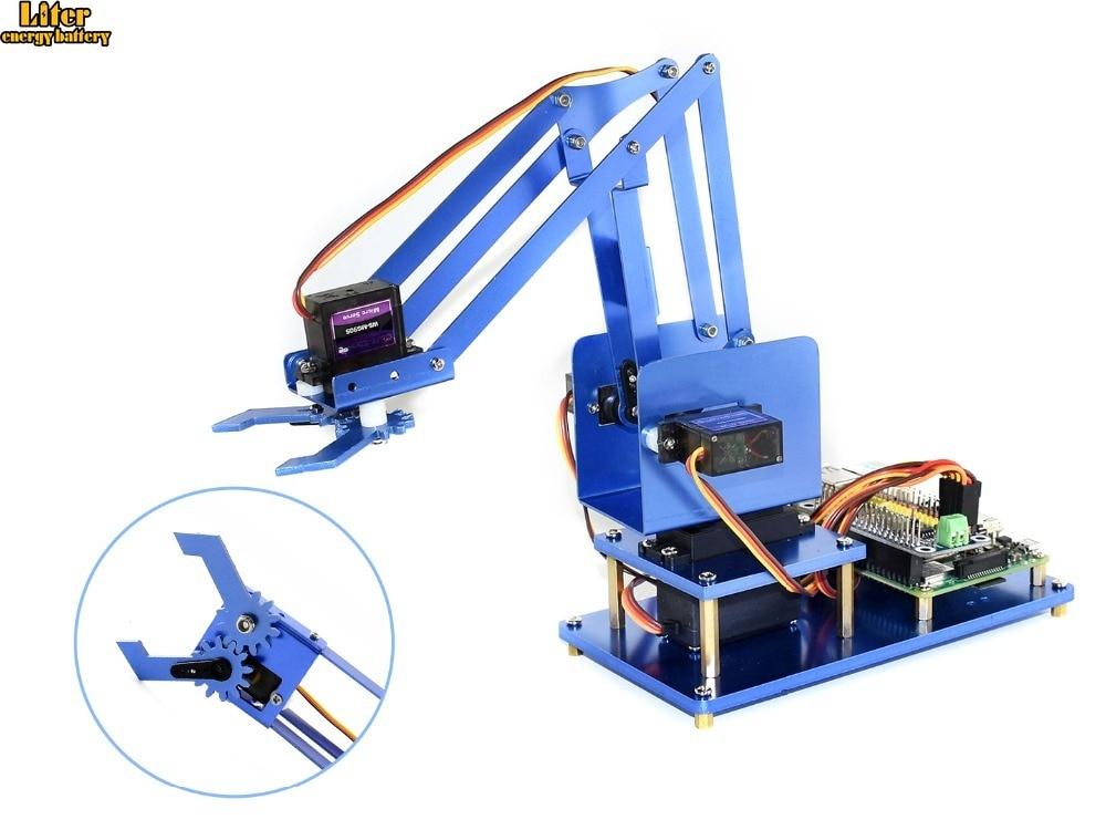 4 DOF металлический робот Arm Kit для Raspberry Pi Zero/Zero W/Zero WH/2B/3B/3B + Bluetooth / WiFi Пульт