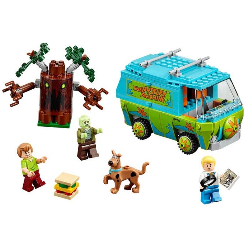 Kit de bloques de construcción Scooby Doo The Mystery Machine 75902, figuras de scooby-doo, modelo de ladrillos, juguetes de regalo