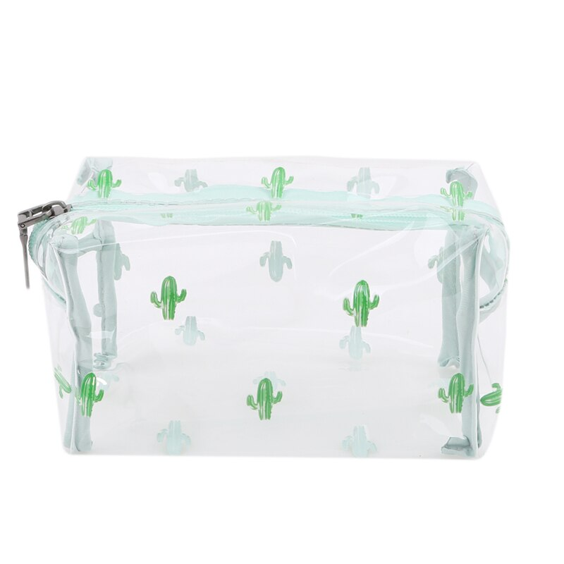 Transparent  Women PVC Cosmetics Bag Zipper Cosmetic Large Capacity Make-up Bags Waterproof Travel Toiletry Makeup Storage Bags