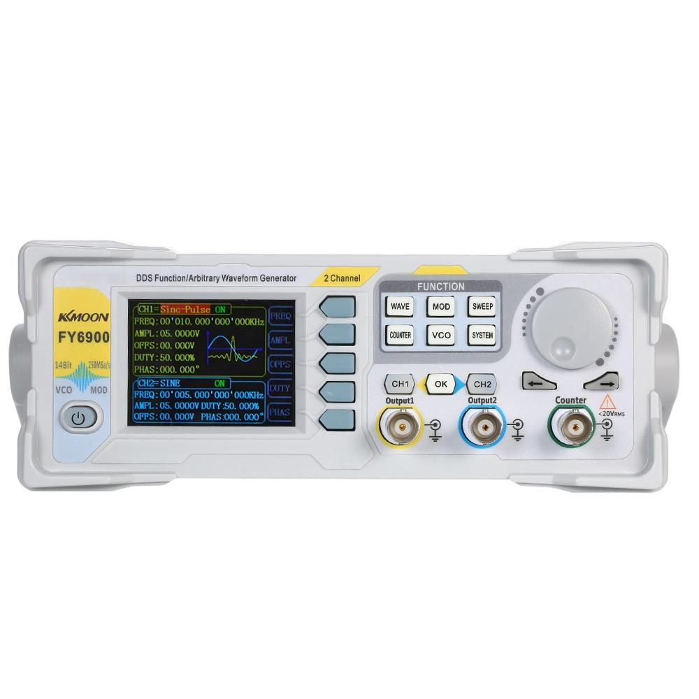 KKmoon alta precisión DDS 20MHz Digital de doble canal generador de impulsos de señal 250MSa/s generador de funciones del medidor de frecuencia