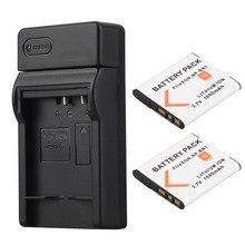 2x1000 mAh NP-BN1 NP BN1 NPBN1 Appareil Photo Numérique Batterie Batterie + Chargeur USB pour Sony TX9 WX100 TX5 WX5C W620 W630 W670 TX100
