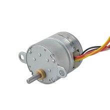 Motor de engranaje de Motor DC con caja de cambios 100 1 Spur Φ25x25mm Motor de imán permanente 4 fases 6 cable DC Motor para máquina CNC