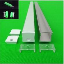 5-30 teile/los 40 zoll 1 mt W23.5 * H20.5MM flache aluminium profil für zweireihige led-streifen, milchig/transparent abdeckung kanal für 20mm pcb