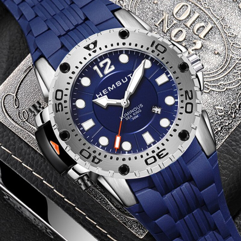 Hemsut Shock Sport Watches Big Dial Quartz Military Waterproof Men Wristwatches Male Clocks Men's Watch Deportivos Reloj Hombre