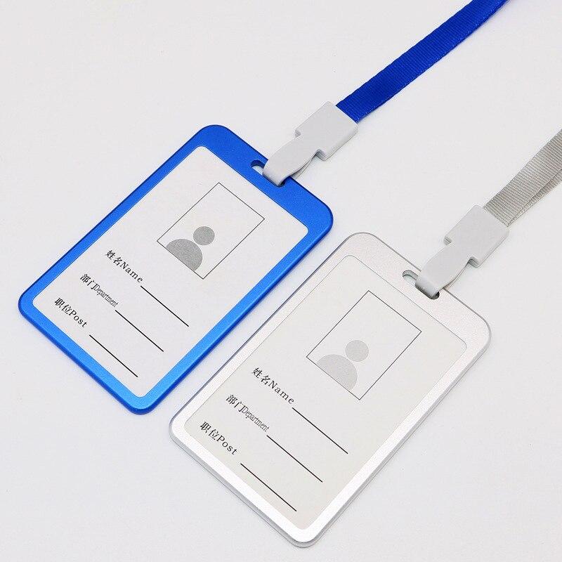 Alta calidad aleación de aluminio titular de la tarjeta de identificación de trabajo placa con nombre titular de la tarjeta de exposición titular de la escuela Oficina suministros