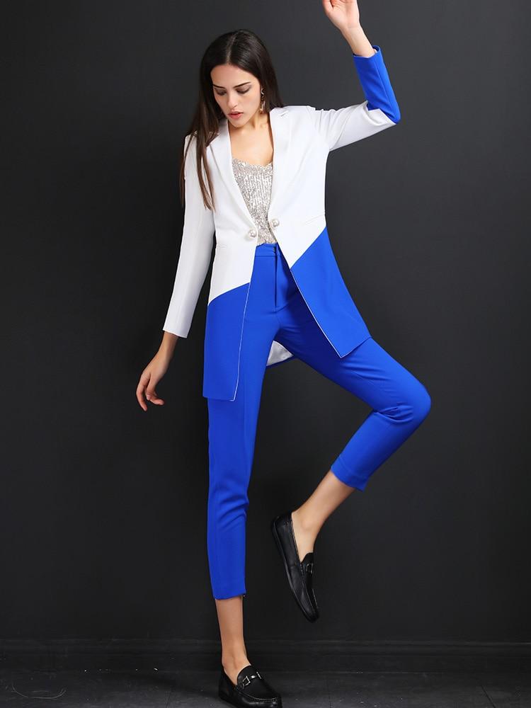 High quality women suits pants suit Work Pant Suits OL 2 Piece Set for Women Business interview uniform Blazer and Pencil Pant