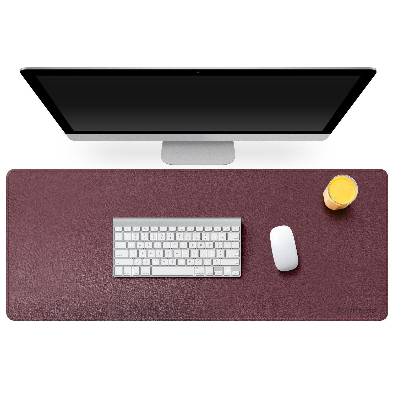 Alfombrilla de ratón Mydours portátil de doble cara de piel sintética, alfombrilla grande para teclado de Gaming, alfombrilla impermeable para escritorio de oficina, alfombrilla para Gamer de 95x40cm