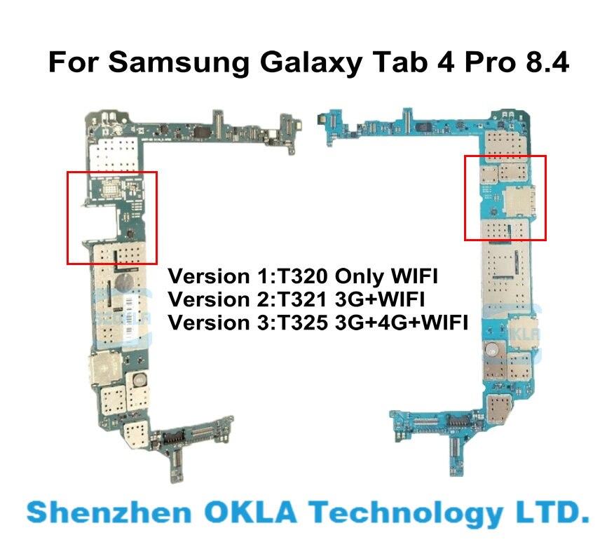 1 Uds. De repuesto Original usado para Samsung Galaxy Tab 4 Pro 8,4 T320 T321 T325 2G RAM 16G ROM placa base