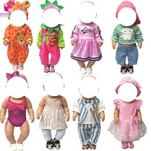 For 43cm  Baby Doll Boy Clothes Set Shirt Denim Pants Baseball Cap Set for 18 Inch Girl Doll Clothes Pants Set