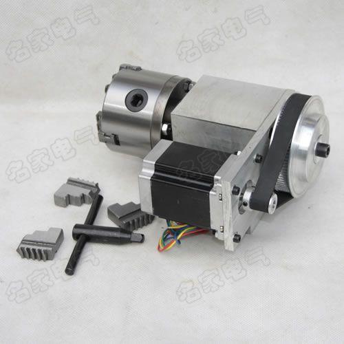 النقش آلة الرابع محور رمح الدورية رمح CNC تقسيم رئيس K11 80 مللي متر أربعة الفك تشاك ل cnc راوتر 1 قطعة