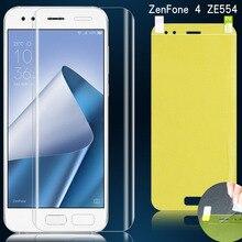 Гидрогелевая пленка для Asus Zenfone 4 ZE554KL защита экрана нано пленка 3D мягкая термополиуретановая Взрывозащищенная полная защита (не стекло)