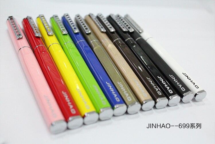 ¡Envío gratis! Papelería Jinhao 699 lapicera de regalo Metla de lujo 0,38mm punta Extra fina pluma estilográfica bolígrafos de tinta regalo