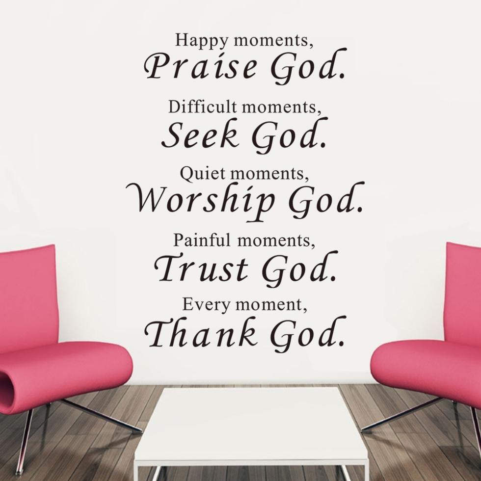 Pegatinas de pared bíblicas, decoración, alabanza, amor, confianza, gracias a Dios, cita cristiana, bendecir, proverbios, mural de habitación de PVC