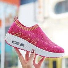 Femmes plate-forme chaussures femme mocassins baskets 2020 mode femmes sans lacet peu profonde Swing chaussures décontractées chaussures plates pour femme chaussures