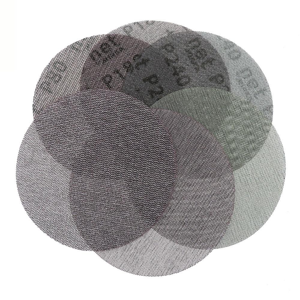 50 قطعة/صندوق 6 بوصة 150 مللي متر الصنفرة Autonet شبكة الرملي أقراص الغبار الحرة مكافحة حجب 80/120/180/240/320 فريك