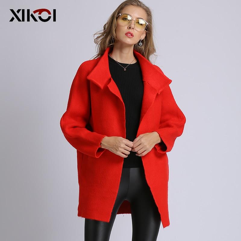 XIKOI 2019 suéter largo de mujer con bolsillos largos Cardigans cárdigan de punto sólido para mujer con puntada abierta de gran tamaño abrigo múltiple