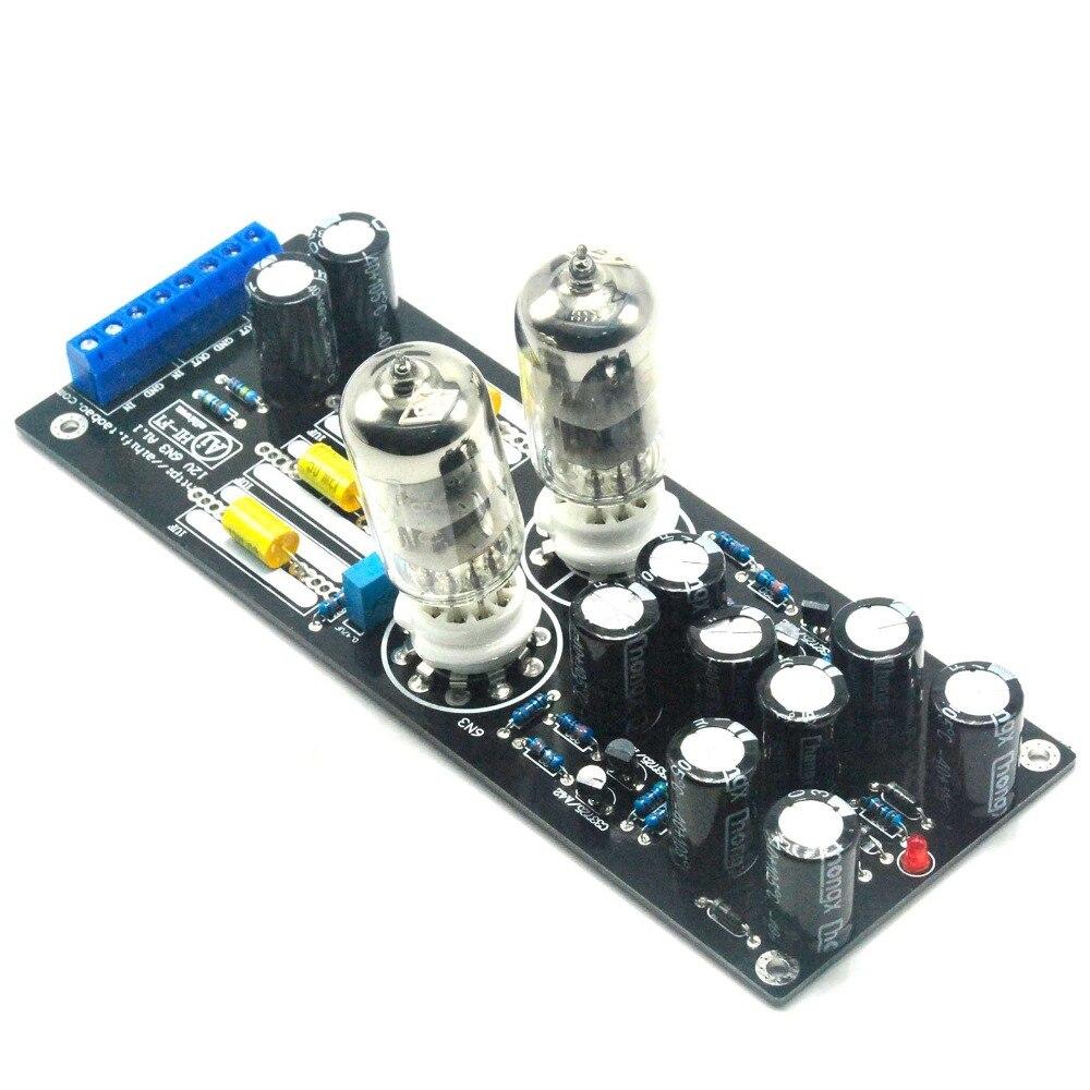 6N3*2 (5670/6H3) Stereo Tubo Amplificador Montado Board Tubo de Buffer AC12V 1A