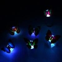Autocollants muraux papillon colores  1 piece  Installation facile  veilleuse LED pour chambre denfant  decoration de la maison  couleur aleatoire