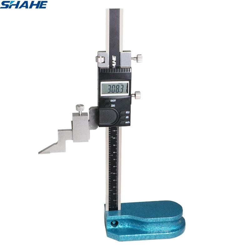 SHAHE جديد 0-150 مللي متر الرقمية الارتفاع مقياس الارتفاع الإلكترونية فرجار رقمي مقياس الالكترونية مع شعاع واحد أداة قياس