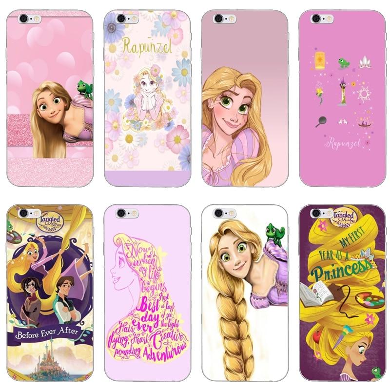 Enredados princesa Rapunzel caja del teléfono de silicona para iPhone XR X XS X Max 8 7 6s 6 plus SE 5S 5c 5 iPod Touch