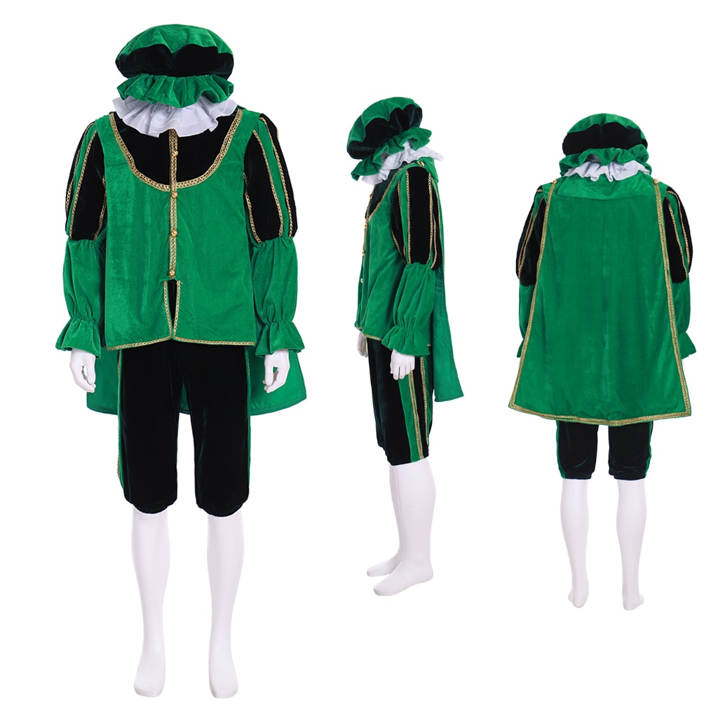 Cosplaydiy Medieval Tudor Isabelino Verde Costume Outfit Rei Príncipe Cavaleiro Senhor Traje Túnica L717