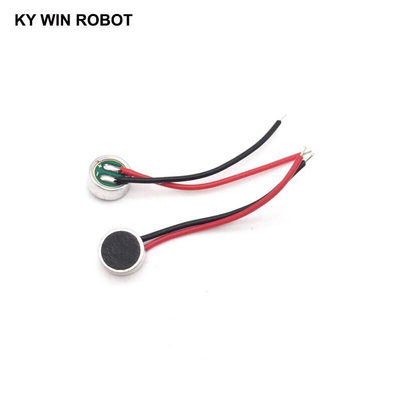 Mini micrófono para Audio, 10 Uds., Electret 6022 6x22mm SG, 42BD altavoz omnidireccional de alta sensibilidad, micrófono con línea