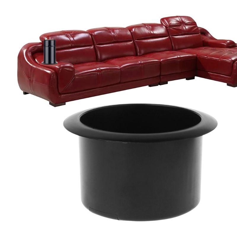 New Plastic Black Insert Cup Holder Drink Bottle Placing Rack For Car Marine Boat RV Truck Office Sofa Kitchen Cabinet Parts