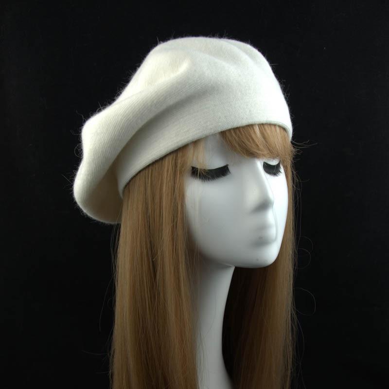 Invierno moda sombrero de la boina para mujer plana CaFemale de Cachemira gorra de lana otoño dama nuevo de las mujeres tapas boinas para mujeres