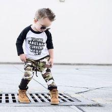Tenues camouflage pour bébés garçons   Vêtements t-shirts, ensemble 2 pièces, hauts + pantalons