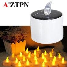 LED à alimentation solaire électronique bougie batterie décor de mariage romantique étanche lumière de thé blanc chaud