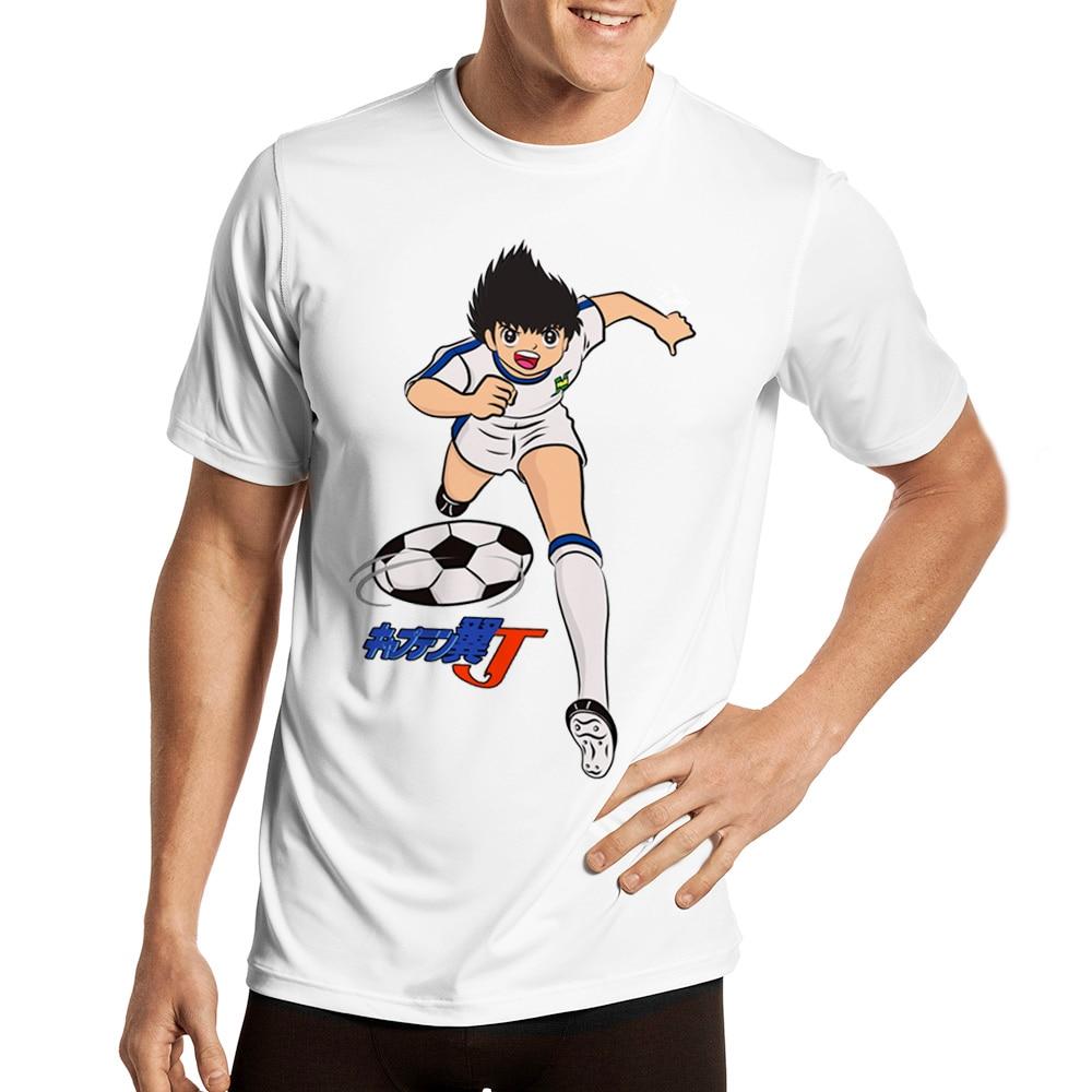 Para los hombres capitán Tsubasa Oliver átomo T shirt 3D imprimir camiseta Rock camiseta orgánica de algodón de gran tamaño Homme