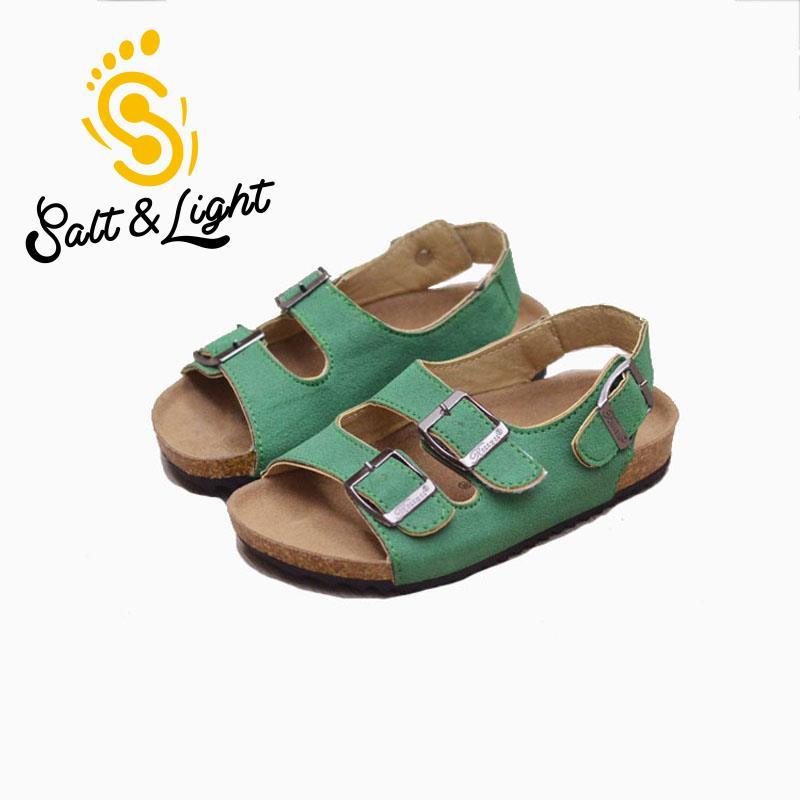 Justsl palavra ao ar livre cortiça sapatos de alta qualidade antiderrapante sandálias 2017 verão crianças sandálias de praia casuais para meninos meninas