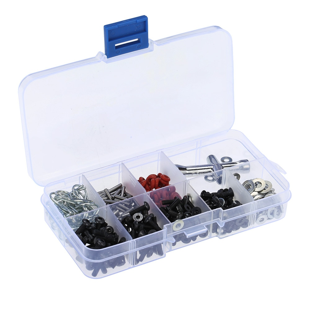 Very practical Special Repair Tool and Screws Box Set for 1/10 HSP RC Car include 270 Pcs Hexagon Wrench Free Shipping enlarge