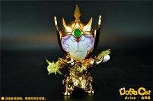 Japan Classic Comic Anime Robot Doraemon Cosplay Gold Saint Aries Avenir Sion Mu DoraCat 11cm Action Figure