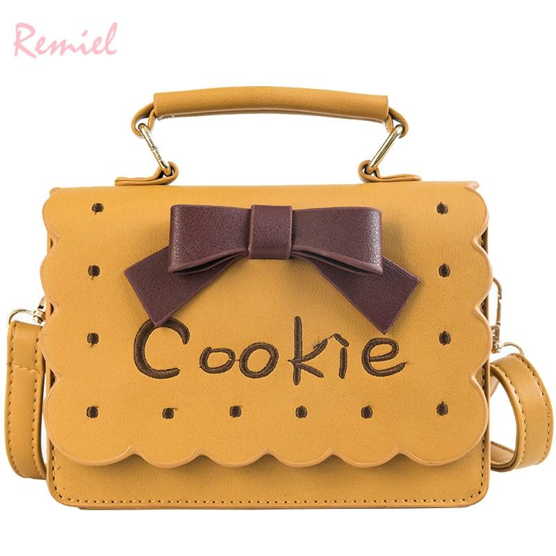 Korean Fashion Female Square bag 2018 New Quality PU Leather Women's Designer Handbag Sweet Lady Bow Tote Shoulder Messenger Bag