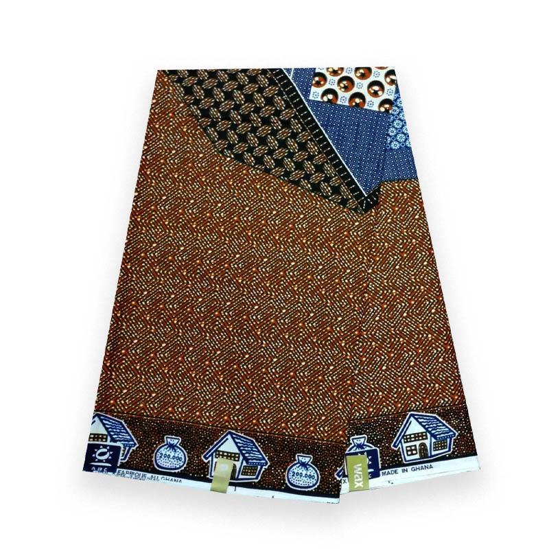 Alta qualidade verdadeiro ancara cera africana cera respirável real impresso tecido 100% algodão real ancara respirável roupas V-L 014