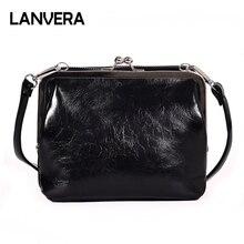 Женская сумка-мессенджер lanvera, фирменная винтажная мини-сумка с замком и рамой, Лидер продаж