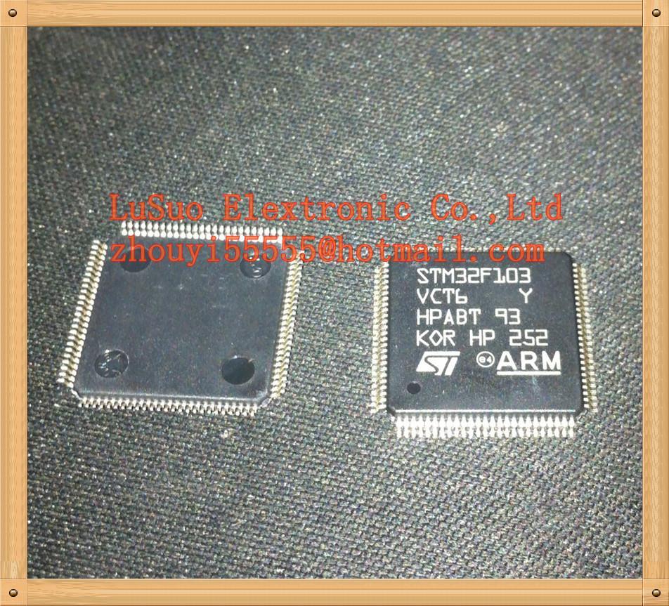 Stm32f103vct6 stm32f103 32f103vct6 st lqfp100 linha de desempenho de alta densidade baseado em braço
