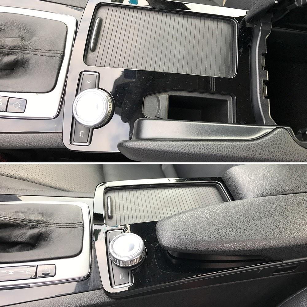 Pegatinas de reposabrazos para consola, decoración de coche para mercedes-benz Clase C C180 C200 W204 2008-2014 LHD C180 C200 C260 C300