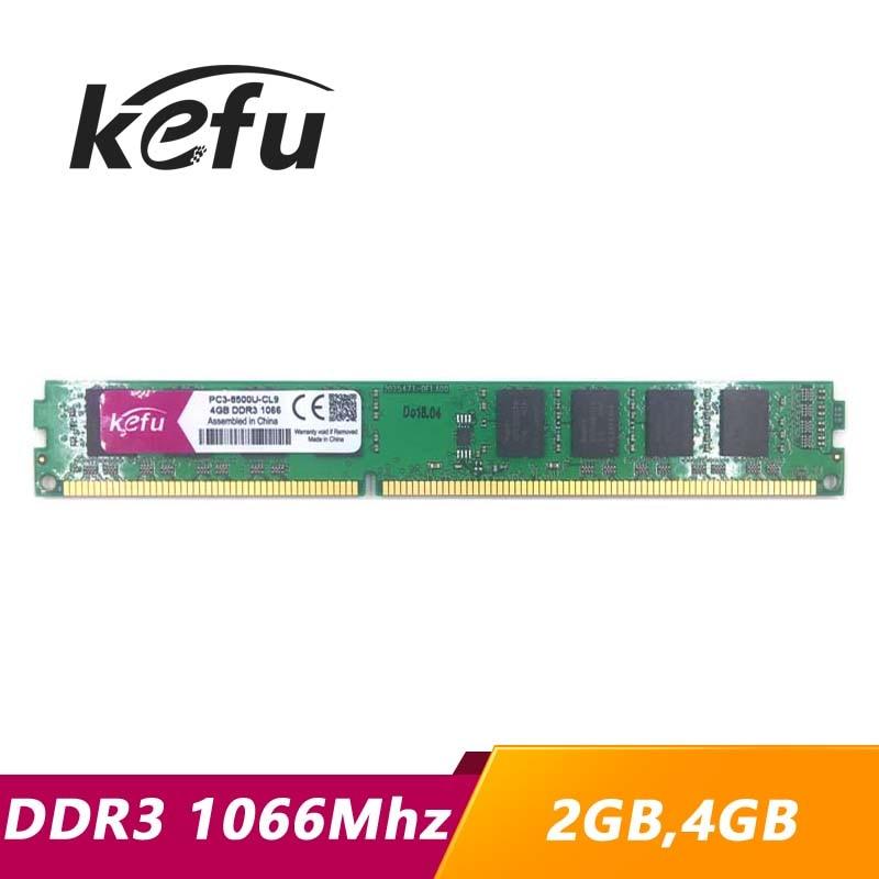 KEFU-Memoria RAM DDR3 para ordenador de escritorio, 2GB, 4GB, 1066 1066mhz, PC3-8500U,...