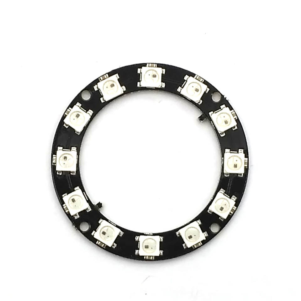 RGB LED anillo 12 Bits WS2812 WS2812B 5050 RGB LED Spot integrado conductor Control módulo serial para Arduino I2C controlador