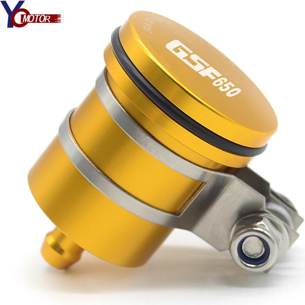 Para SUZUKI GSF650 GSF 650 moto accesorios de aluminio depósito de líquido de frenos para moto embrague de aceite del tanque de tapón de fluido GSF650